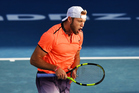 USA's Jack Sock during his semi final singles match at the ASB Classic. Photo / Photosport