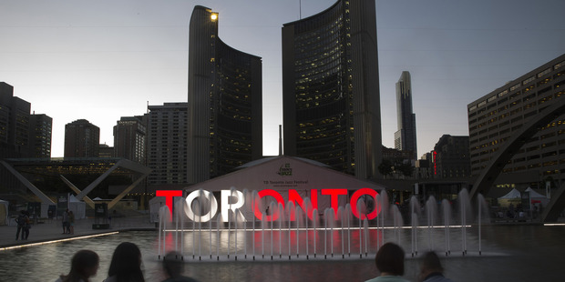 Nathan Phillips Square in Toronto, Ontario, Canada. Photo / Bloomberg