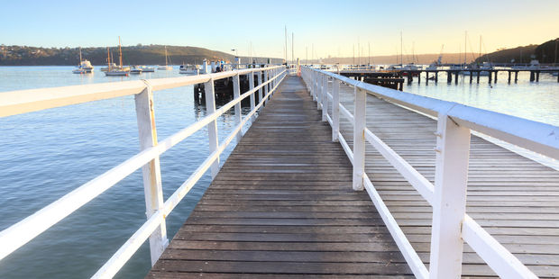 The boardwalk at Balmoral Beach at the southern end is used by swimmers, fisherman and boat owners. Photo / 123RF