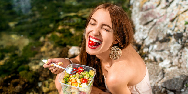 Put down the boring old salad! Researchers say you can eat whatever you want and still lose weight, as long as it is between 8am and 2pm. Photo / 123RF.com