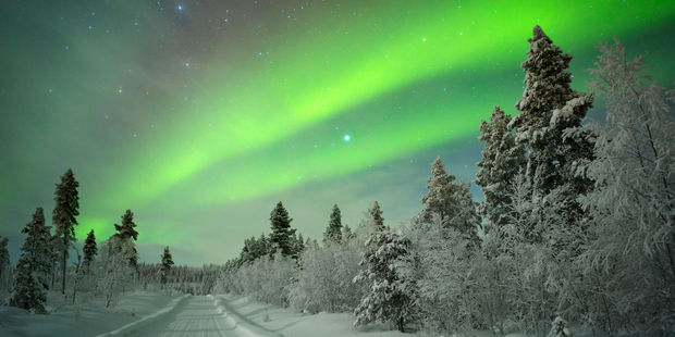 The Northern Lights as seen in Finland. Photo / 123RF