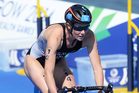 Kate McIlroy in action during the Women's Triathlon at the Glasgow Commonwealth Games 2014. Photo/Photosport