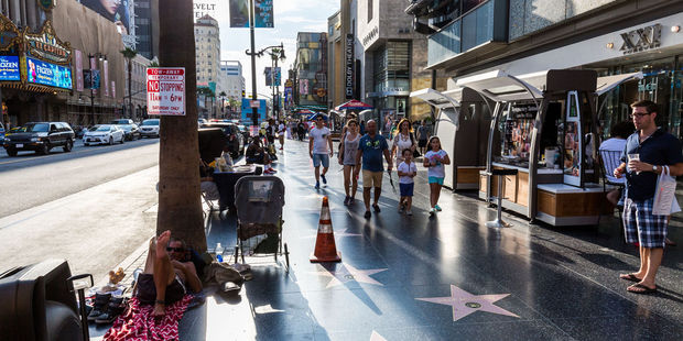 The Hollywood Walk of Fame in Los Angeles is surprisingly dingy. Photo / 123RF