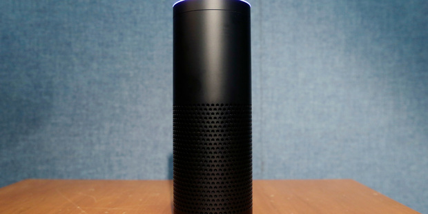 Amazon's Echo speaker, which responds to voice commands. Photo / AP