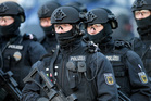 A unit of the German federal police near Berlin. Photo / AP