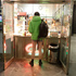 A passenger buys a slice of pizza while taking part in the No Pants Subway Ride in Prague, Czech Republic. Photo / AP