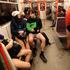 Passengers take part in the No Pants Subway Ride in Prague, Czech Republic. Photo / AP