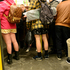 Young people with no pants ride the subway train during the event 'No Pants Subway Ride' in Berlin, Germany. Photo / AP
