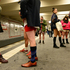 Young people with no pants wait for the subway train during the event 'No Pants Subway Ride' in Berlin, Germany. Photo / AP