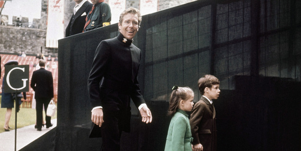 Lord Snowdon with his two children, Viscount Lindley and Lady Sarah in the late 1960s. Photo / AP