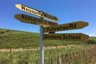 A signpost at Arohena in the Otorohanga District shows how isolated the farming community is where Kim Richmond disappeared from. Photo / Natalie Akoorie