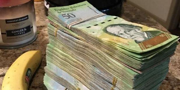 This stash of Venezuelan Bolivares is worth about $21. Photo / Reddit