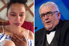 Auckland woman Lara Bridger, left, posted a video on social media claiming Sir Peter, right, had told her Waiheke Island was a