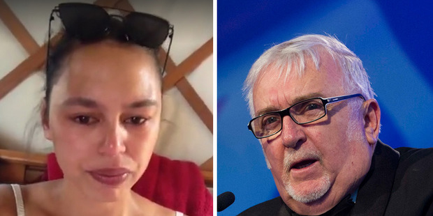 "Auckland woman Lara Bridger, left, posted a video on social media claiming Sir Peter, right, had told her Waiheke Island was a ""white man's island"". Photos / Facebook, supplied"