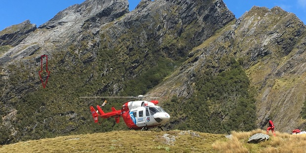 The Takaka woman was taken to Nelson Hospital with a serious leg injury and potential back injuries. PHOTO/Nelson Marlborough Rescue Helicopter