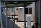 A view of a part of the Construction camp detention center on Christmas Island, Australia. Photo / Getty Images