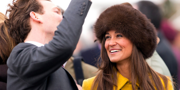 Pippa Middleton wore a brown Lacorine hat to Cheltenham races in 2013. Photo / Getty Images
