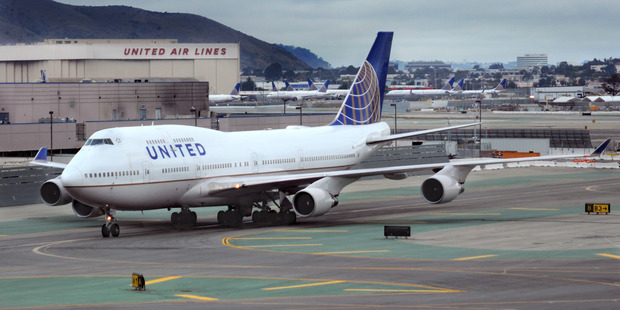 A United Airlines Boeing 747 aircraft at San Francisco International Airport. Photo / Getty Images
