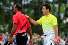 Tiger Woods and Rory McIlroy. Photo / Getty Images