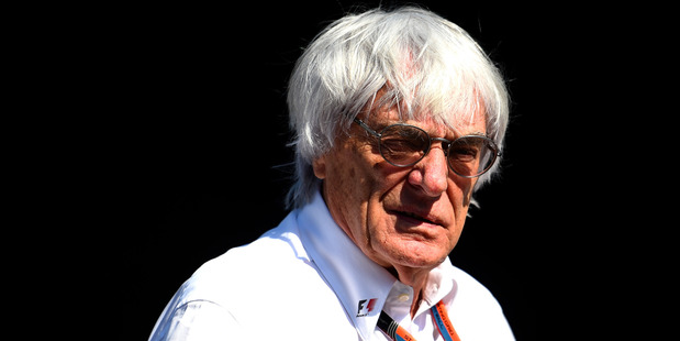 F1 supremo Bernie Ecclestone looks on in the paddock during Grand Prix of Belgium. Photo / Getty Images