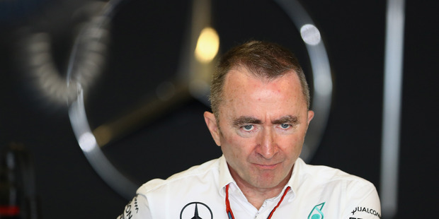 Paddy Lowe in the garage during practice for the Abu Dhabi Formula One Grand Prix. Photo / Getty Images