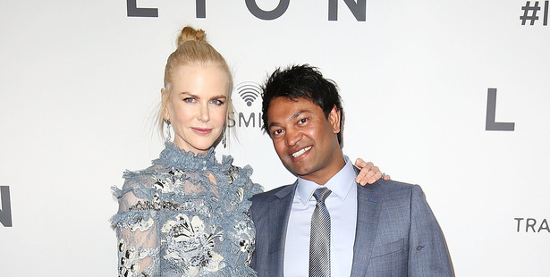 Nicole Kidman and Saroo Brierley at the Australian premiere of Lion. Photo / Getty