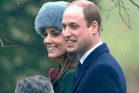 Kate Middleton wowed the crowds on Sunday on the eve of her 35th birthday by wearing a grey alpaca fur hat. Photo / Getty Images