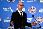 NBA commissioner Adam Silver speaks during a press conference prior to the NBA match between Indiana Pacers and Denver Nuggets at the O2 Arena. Photo / Getty Images