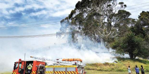 Three children have been referred to Youth Aid for starting a scrub fire in Gisborne on Friday. Photo / Rebecca Grunwell of the Gisborne Herald