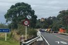 A person is critical after crashing into a tree off the Hibiscus Coast Highway. Photo / Tennille Murdoch