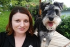 Courtenay Colligan with Louie, her pet miniature schnauzer. Photo / Supplied.