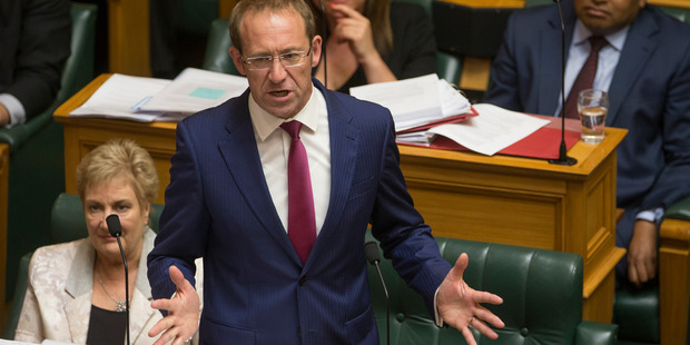 "Labour leader Andrew Little said John Key's shock resignation has changed the ""dynamic"" of the election contest. Photo / Mark Mitchel"