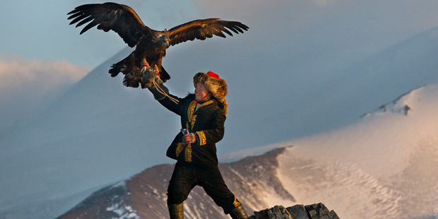 Loading A scene from the film, The Eagle Huntress.