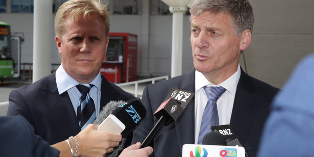 Loading Prime Minister Bill English speaks to the media at Auckland Airport before flying overseas. Photo / Nick Reed