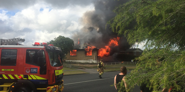 Loading the fire is believed to have started in the ceiling and spread incredibly quickly. Photo / Jason Winstanley