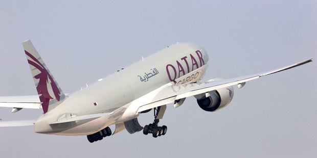 Qatar Airways will use a Boeing 777-200LR on the Auckland-Doha route.