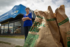 RUBBISH: SPCA Fairy Springs Op Shop manager Lynn Downs says people have been dumping their rubbish at the store. PHOTO/STEPHEN PARKER