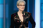'Over-rated actress' Meryl Streep accepting the Cecil B. DeMille Award at the 74th Annual Golden Globe Awards. Photo / AP