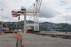 Centreport's gantry cranes have been inoperable since the earthquake in November. Photo/Mark Mitchell