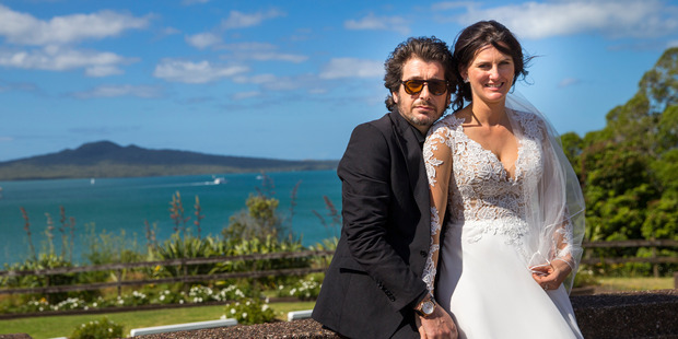 Bronia Tindall and Fabrizio Clementi on their wedding day. Photo / Ben Franks/Steve May/one2one Photography