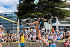 SKILFUL: Alice Bain in action on her home beach at Mount Maunganui in the final of the Bay of Plenty Times Mount Maunganui Open on Sunday. PHOTO: JULIE FITZGERALD