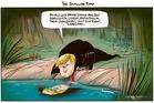 Cartoon: Trump and shallow pond
