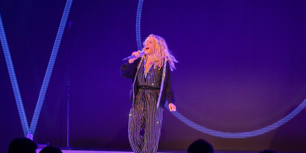 Kylie Minogue at Qatar Airways' gala dinner in Sydney last year.