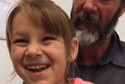 Six-year-old Que Langdon and her father Alan talk with the Milton Ulladulla Times about  their time at sea.