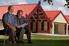 Jim Malcolm, left, and Eru George at Waiteti Marae.  Photo/Ben Fraser