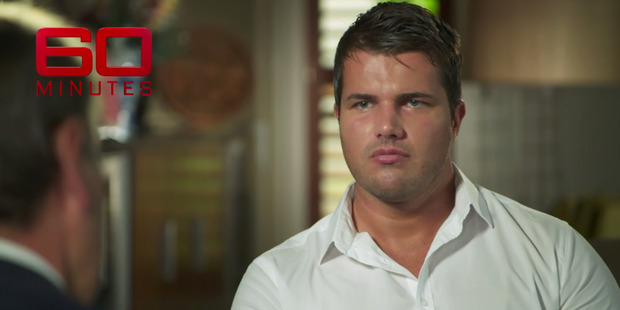 Gable Tostee in an exclusive interview on 60 Minutes screened on Australian television 13 November, 2016. Photo / 60 Minutes