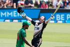 Colin Munro made his maiden T20 century last week against Bangladesh. Photo / Photosport
