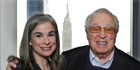 Arthur Frommer, 87, right, with his daughter, Pauline, in New York. Photo / AP