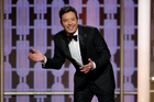 This image released by NBC shows host Jimmy Fallon at the 74th Annual Golden Globe Awards held at the Beverly Hilton Hotel. Photo / Paul Drinkwater/NBC via AP
