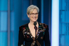 Meryl Streep accepting the Cecil B. DeMille Award at the 74th Annual Golden Globe Awards. Photo/AP